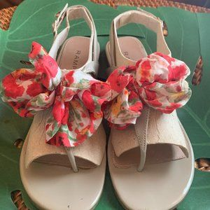 Rampage Floral Bow Top Sandals